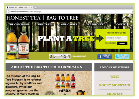 Honest Tea Bag to Tree