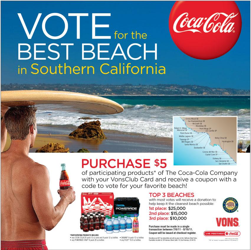Coca-Cola Vons Best Beach