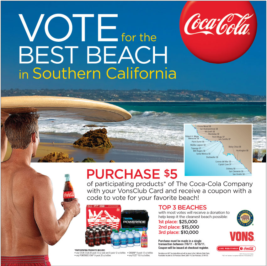 Coca-Cola Vons Best Beach