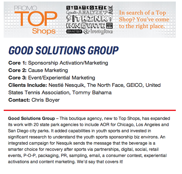 GSG named to Chiefmarketer Magazine Top Shops of the Year!