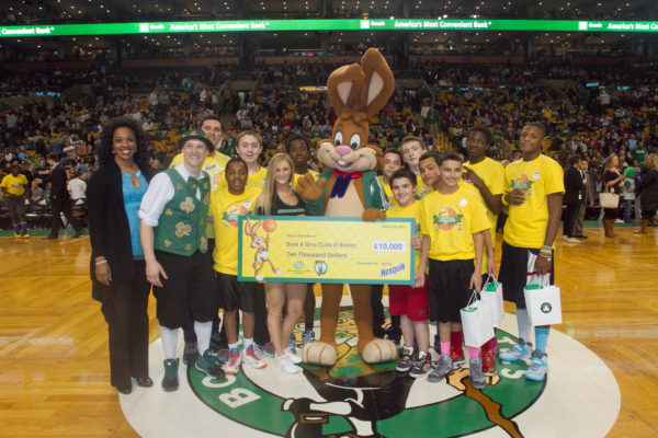 3-26-14-BOSTON, MA Nesquik at TD Garden  Boys and Girls Club participants in the Nesquik Basketball Tournament at the TD Garden during 1/2 time of the Boston Celtics-Toronto Raptors game.