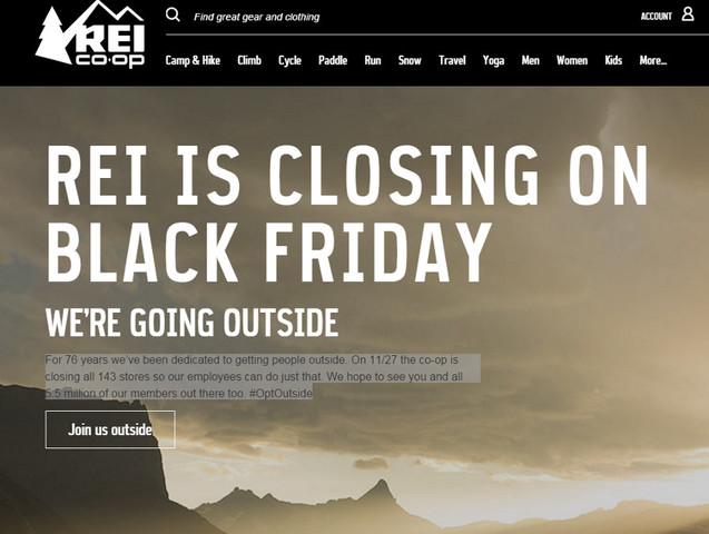 REI opt Outside Cause Marketing